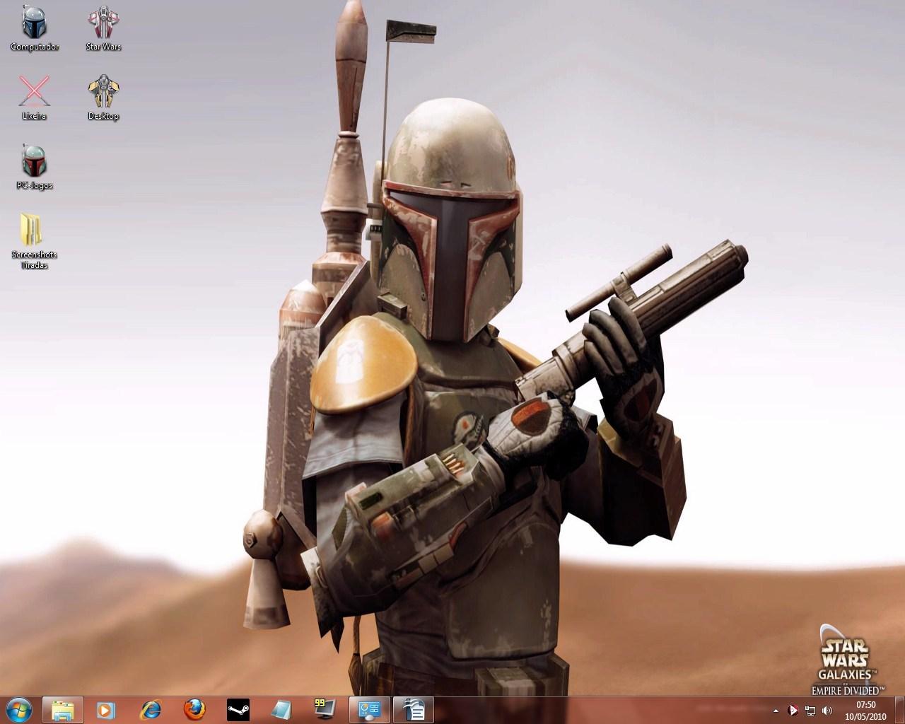 O desktop de um caçador de recompensas