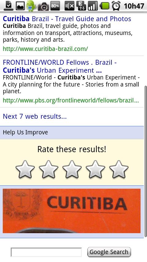 Resultados da busca por Curitiba a partir do adesivo existente na  lateral dos ônibus