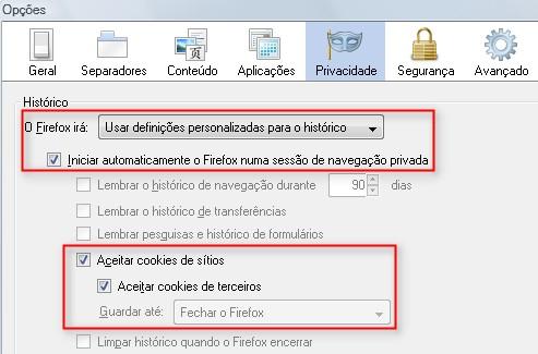 No Firefox não é sequer necessário usar linha de comando.