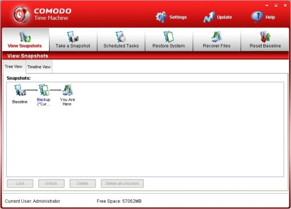 Comodo Time Machine - Restaure seu computador