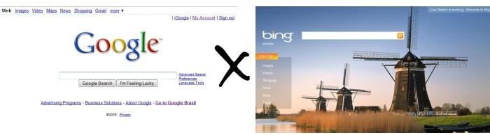 A eterna briga: Google versus Bing