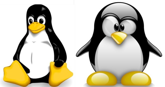 A evolução do desenho do Tux: inicial e atual