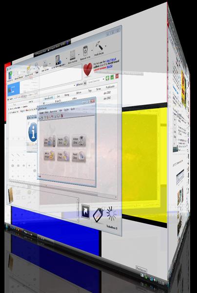 Mudança de Áreas de trabalho usando o DeskHedron