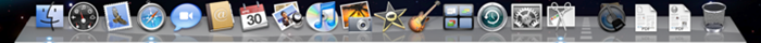 O dock do Mac OS X