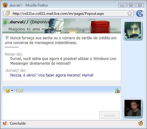 Messenger pelo Hotmail