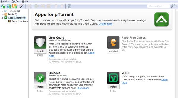 Apps no uTorrent