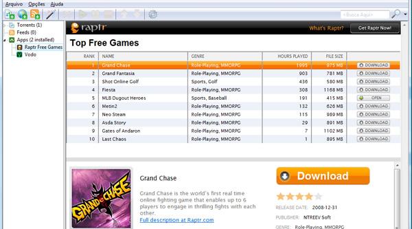 Games para download dentro do uTorrent