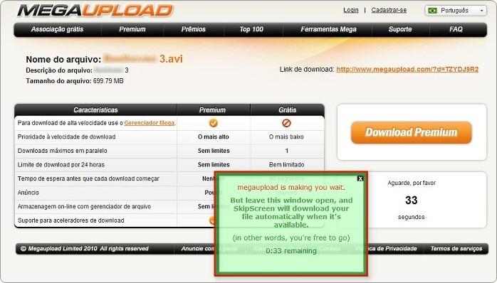 Como baixar arquivos do Rapidshare e Megaupload sem códigos e com contagem automática 14565