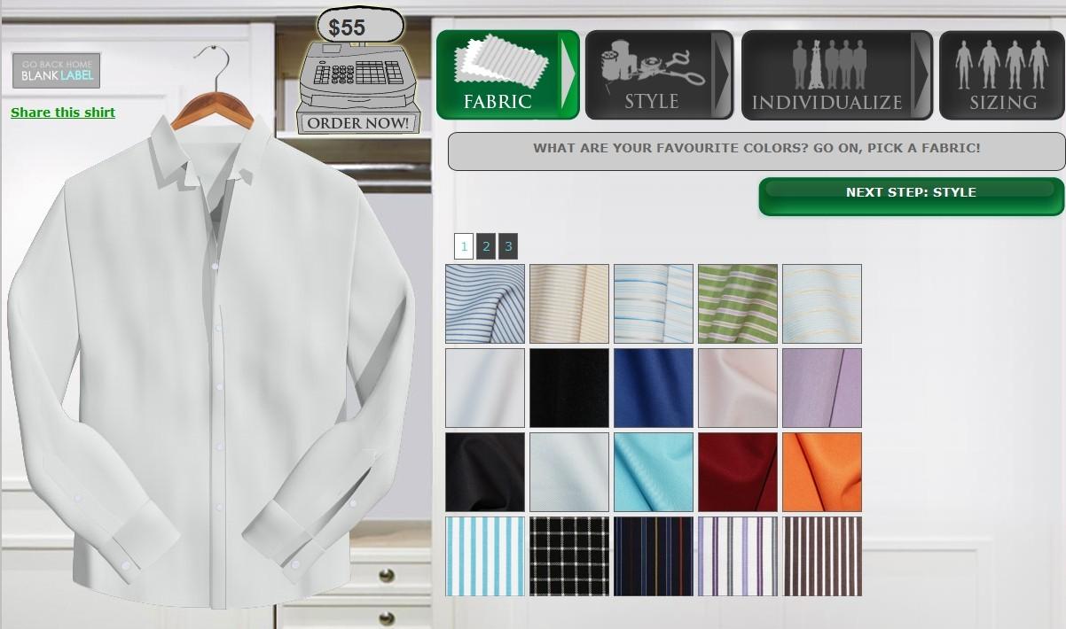 Escolha seu tecido.