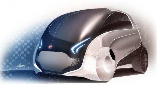 Um desenho do Fiat Mio.