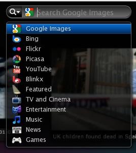 Várias opções de busca