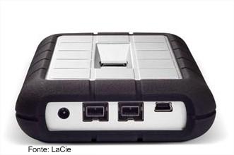 Visão geral: portas USB e FireWire
