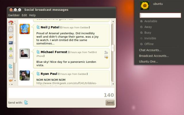 Ubuntu - Agora com acesso facilitado ao Twitter e outras redes sociais