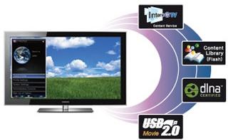 O modelo PN58B860 leva diversos conteúdos da web para o televisor.