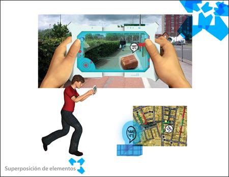 Objetos virtuais pela sua rua