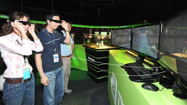 Exibição durante a apresentação do 3D PC.