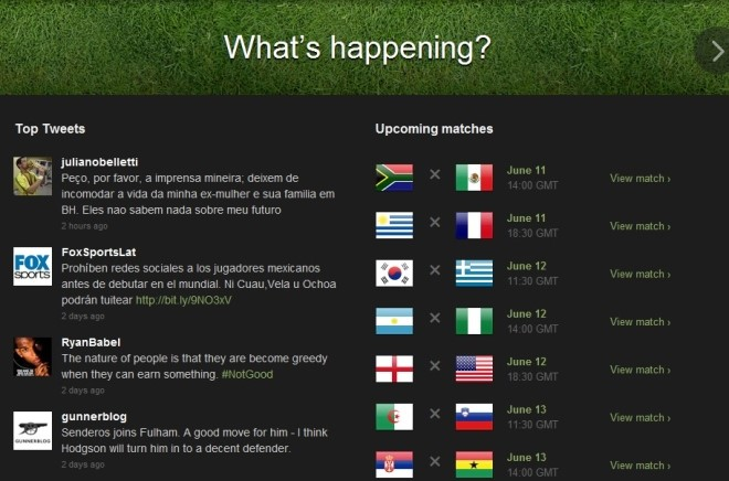 Hotsite da Copa do Mundo