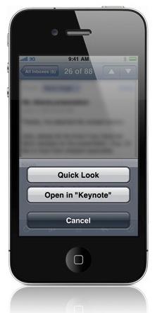 iWork para iOS 4?