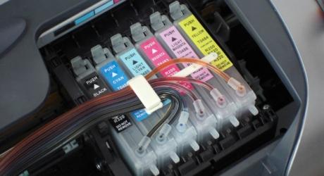Exemplo de impressora com vários cartuchos