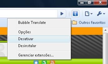 Extensões têm configurações acessíveis facilmente.