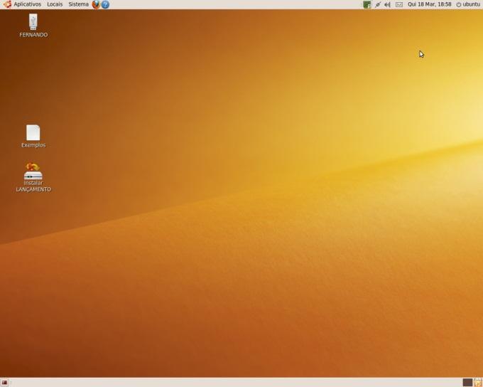 Desktop da distribuição do Linux