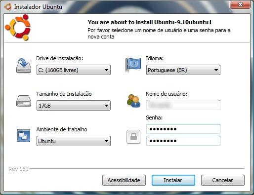 Configure sua distribuição do Linux