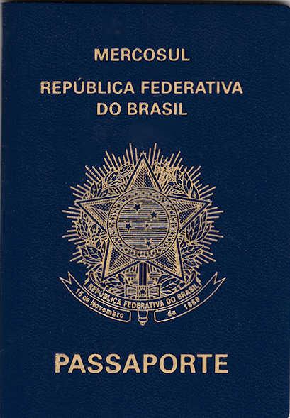 Atual passaporte brasileiro