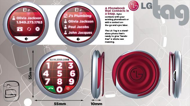 LG Tag: celular conceitual em que a simplicidade reina 59089