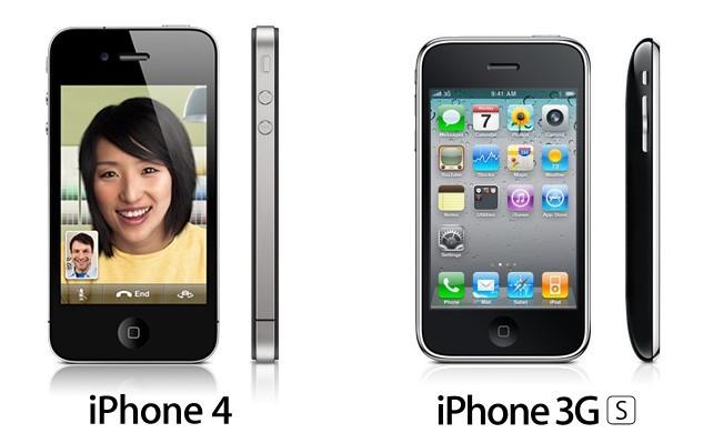 Comparação entre o 3GS e iPhone 4