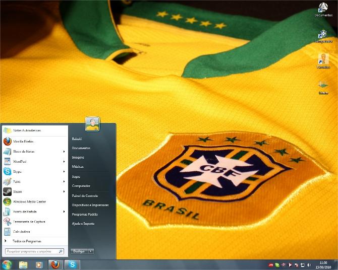 Seu desktop verde e amarelo!