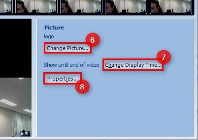 Configure a imagem carregada.