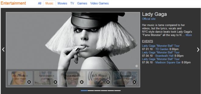 Os artistas mais comentados estão no Bing