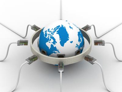 O mundo conectado com a bola