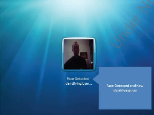 Reconhecimento facial para logar usuários.