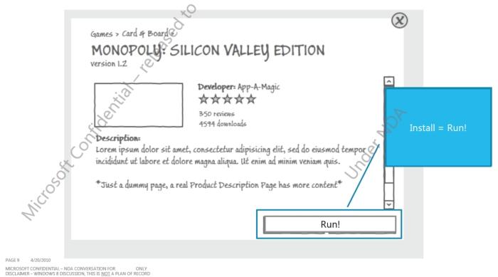 Projeto da Microsoft Store, com rápida instalação de aplicativos.