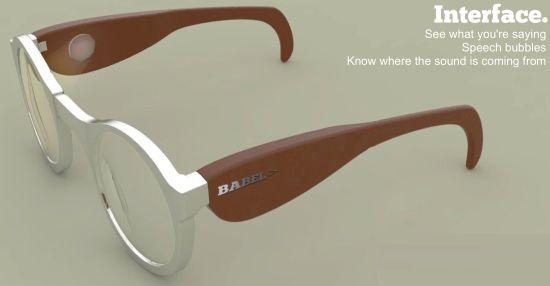 Óculos conceito para tradução