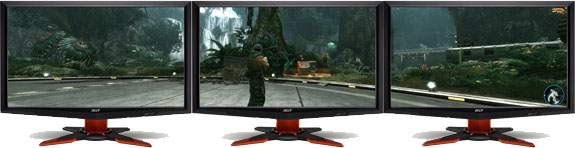 Três monitores para jogar: é o 3D Vision Surround, da NVIDIA 43306