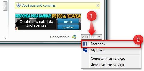 Conecte-se ao Facebook.