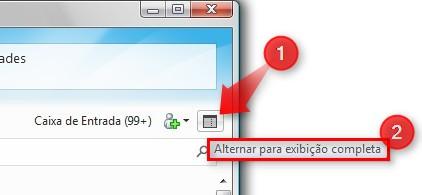 Verifique o modo de exibição do MSN.