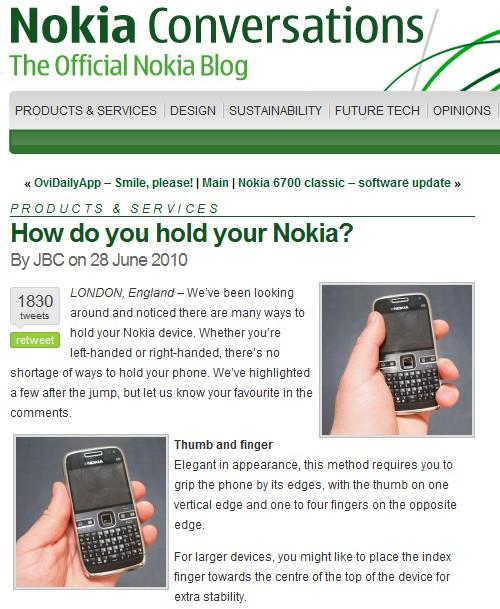 Provocações da Nokia