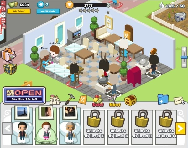 Restaurant City, uma game para Facebook.