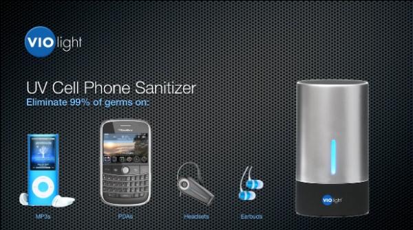 CellPhone Sanitizer Violight. Fonte: Divulgação