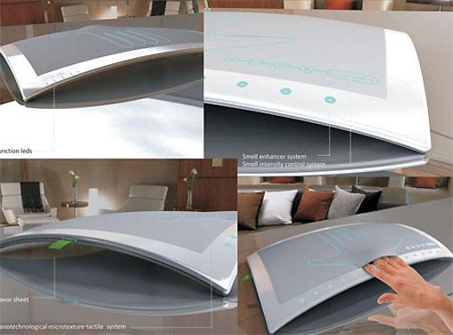 Muitas funções num aparelho moderno e bonito