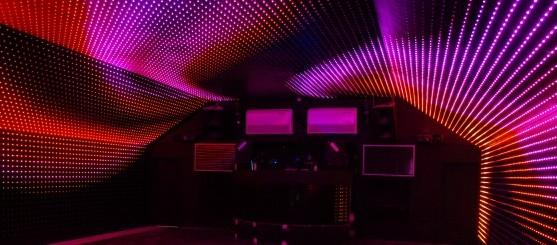 Demonstração da iluminação de LEDs da Philips