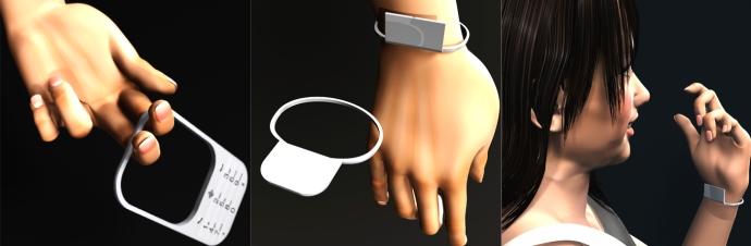 O Trou pode ser usado como pulseira.