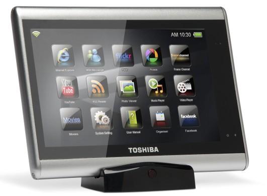 O tablet traz várias funcionalidades multimídia.