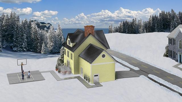 Casa do futuro sem a necessidade de utilizar postes de energia elétrica