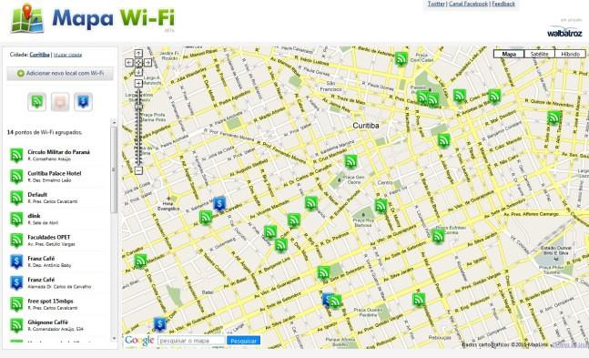 O Mapa Wi-Fi