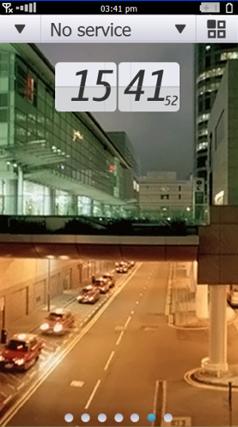 Tela inicial do Symbian^4