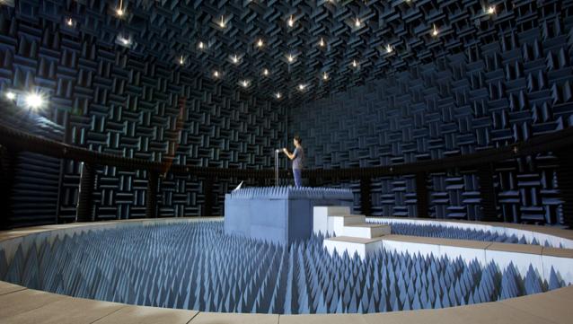 Laboratório de teste milionário é usado para testes de antena na Apple.